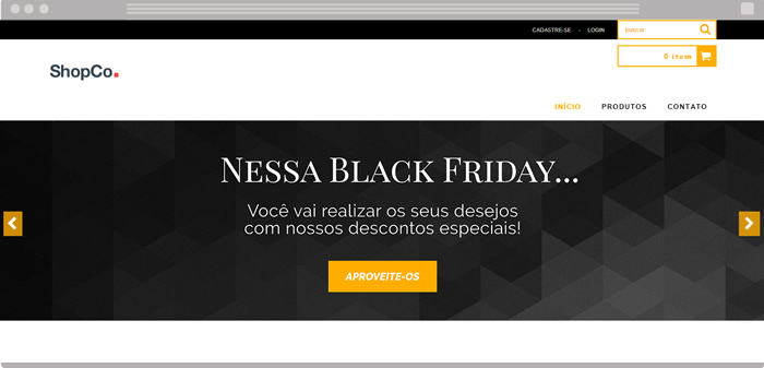 Banner da Black Friday para loja virtual