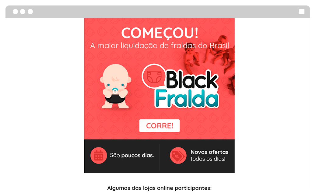E-mail marketing Black Fralda