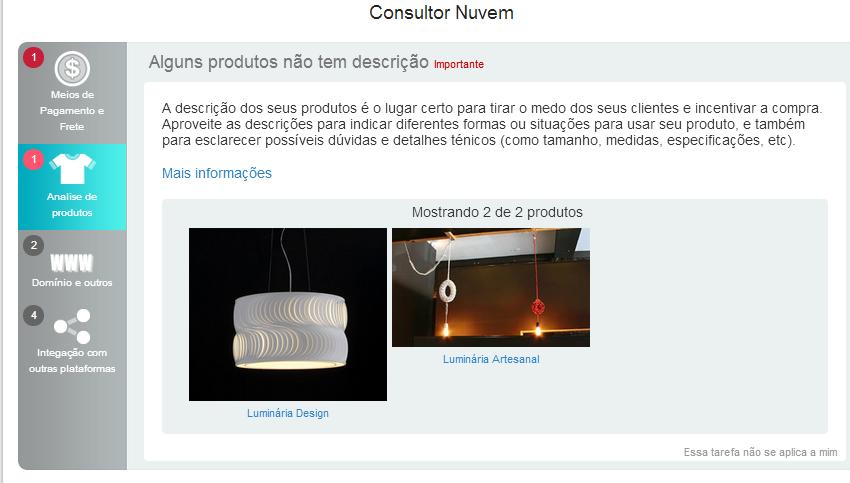 Análise de Produtos Consultor Nuvem