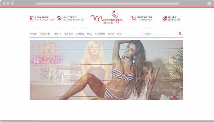 Exemplo de banner rotativo em loja virtual