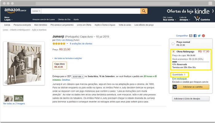 Loja virtual Amazon