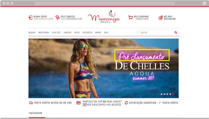 Loja virtual Morango Brasil