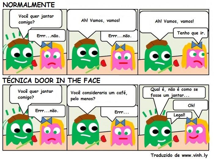 Exemplo de técnica de vendas Door in the Face