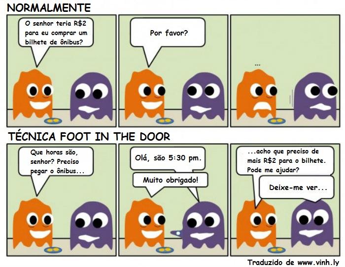 Exemplo de técnica de vendas Foot in the Door