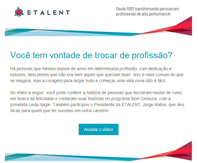 Exemplo email marketing