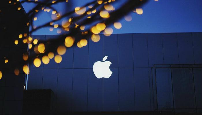 Fachada simples de loja da Apple