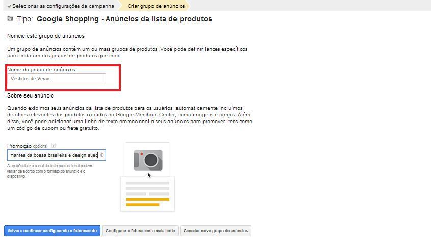 Como criar uma campanha no Google Shopping
