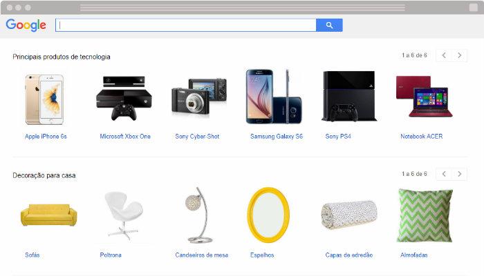 Print página do google shopping