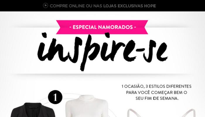 E-mail marketing Loja Hope Dia dos Namorados