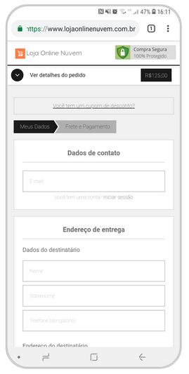 checkout com dominio proprio