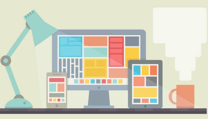 Ilustração sobre web design.