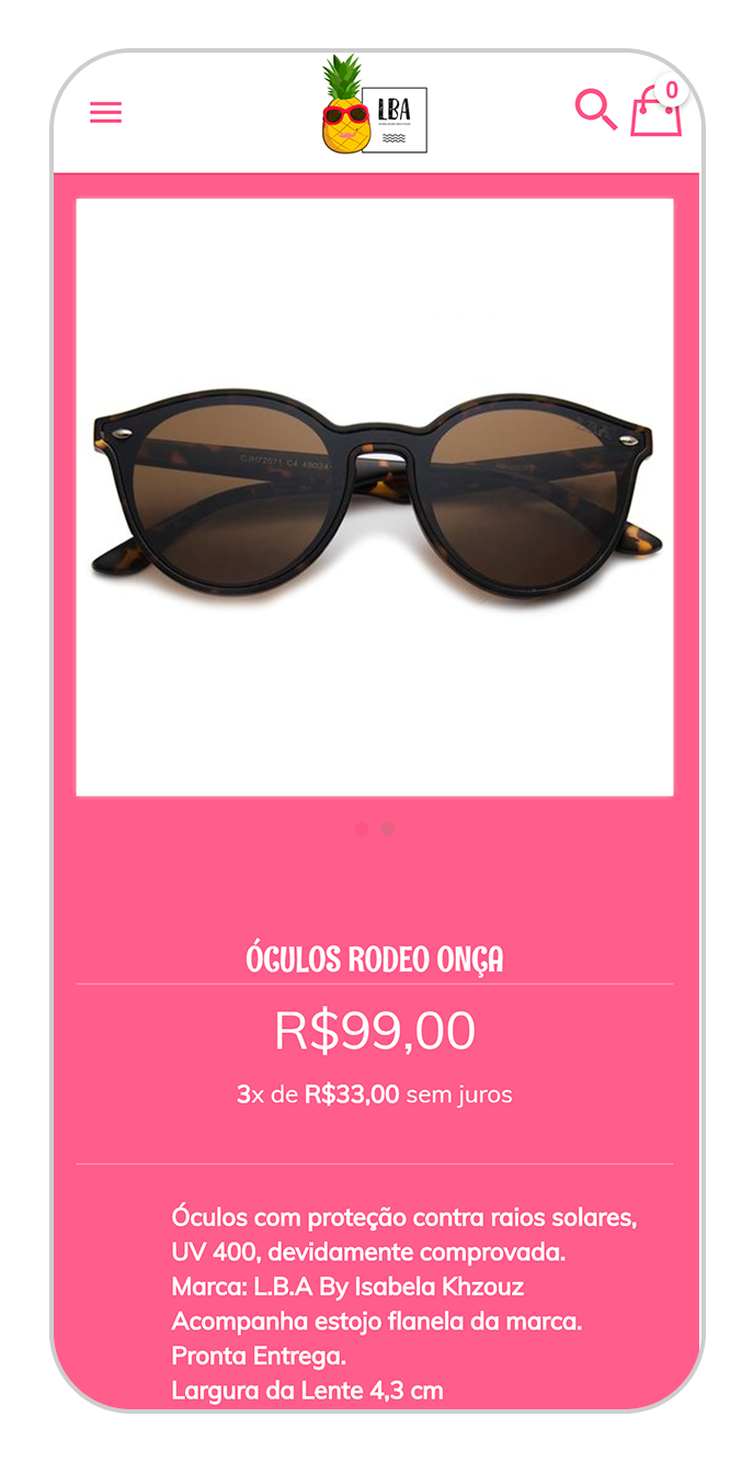 lba produto oculos