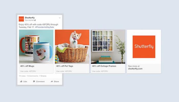 Anúncios multiprodutos no Facebook