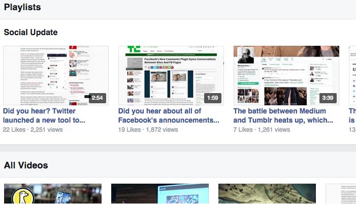 Melhorias nos vídeos do Facebook