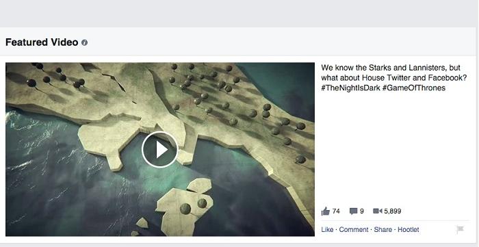 Facebook permite destacar vídeos dentro da fanpage
