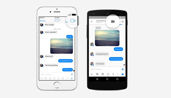Chamadas de vídeo pelo Facebook Messenger