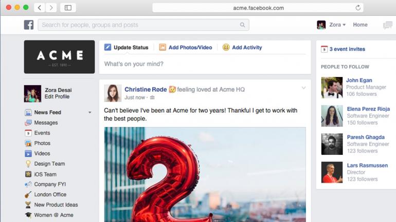 Facebook para empresas. Perfil do facebook para trabalho.