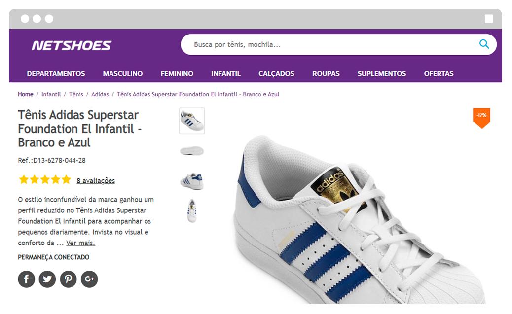 """d853cf27f87 Trata-se de uma estratégia tanto para atrair aqueles que buscam por """"Tênis  Adidas"""""""