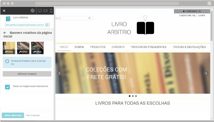 Novo slider banners rotativos loja virtual