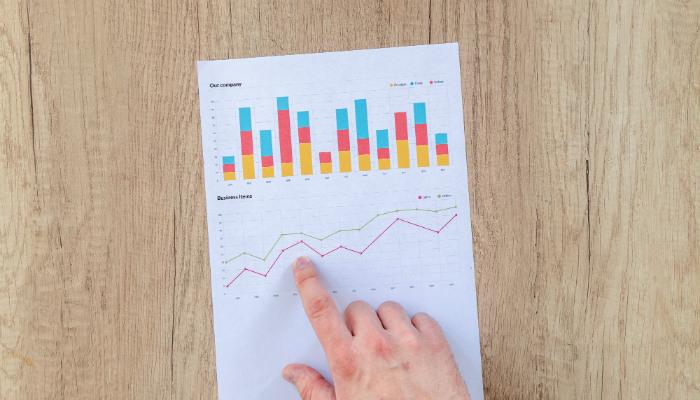 grafico de dados organizacao financeira