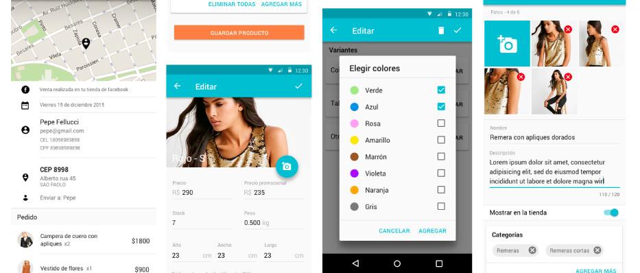 Mobile app Nuvem Shop