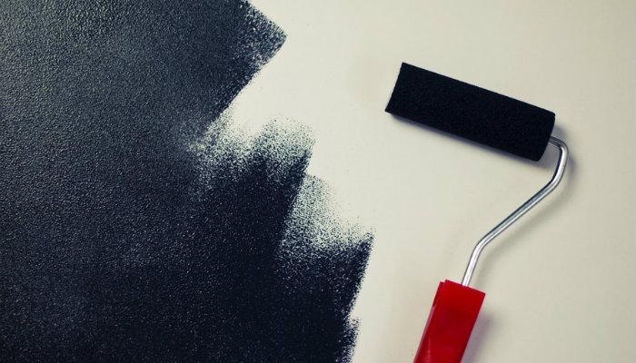 Pintar parede de preto