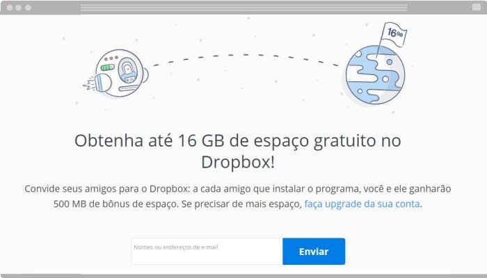 Técnica de venda Dropbox