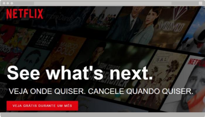 Técnica de venda Netflix