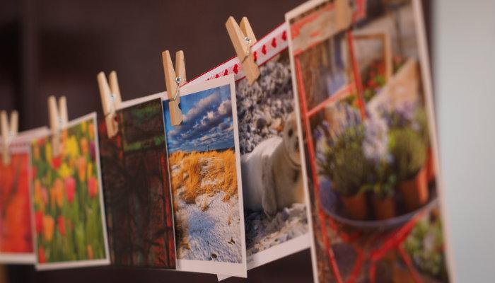 twitter cards fotos coloridas penduradas no varal