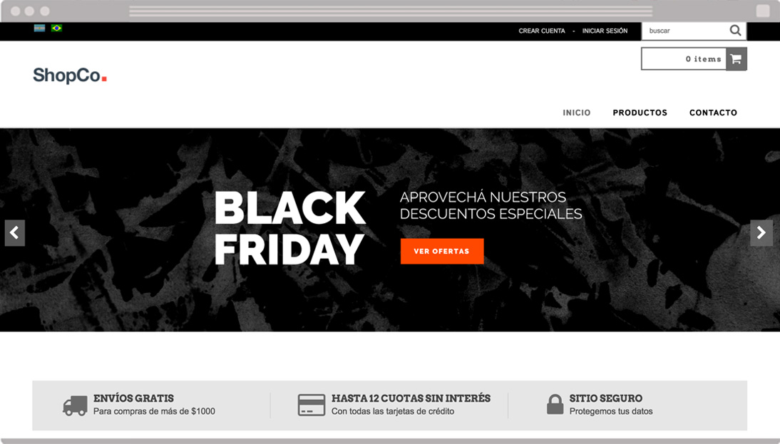 Banners gratis para el Black Friday de Argentina