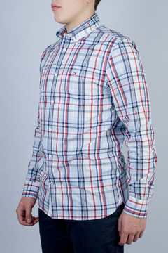 Camisa Tommy Hilfiger Regular Fit Xadrex (444904)