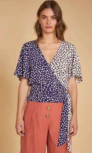 BLUSA CACHECOUR MIX TECIDOS SHOULDER