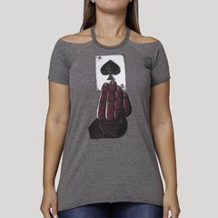 Camiseta Feminina Cold Shoulder Ace na internet
