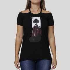 Camiseta Feminina Cold Shoulder Ace
