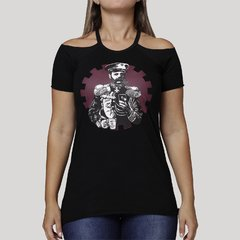 Camiseta Feminina Cold Shoulder General na internet