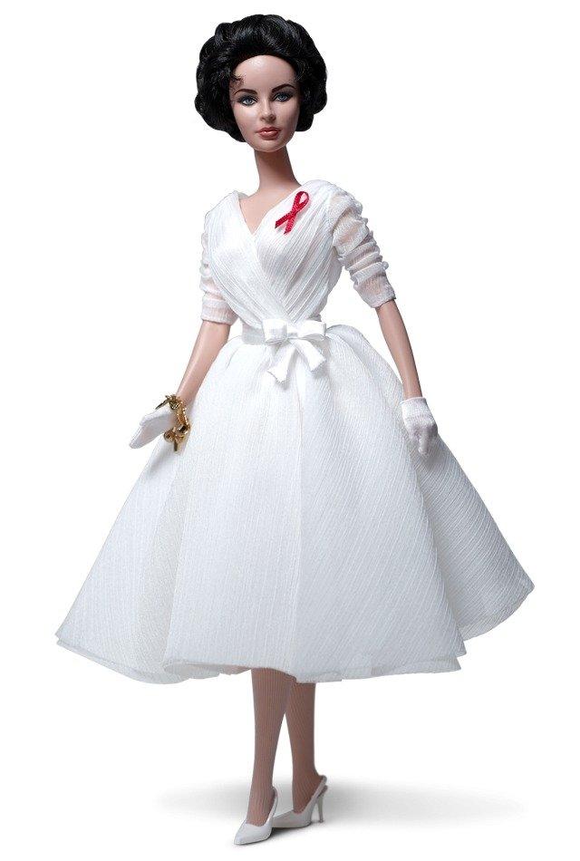 Barbie Silkstone Elizabeth Taylor White Diamonds 2012