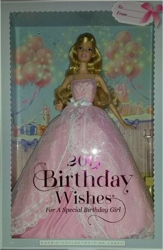 Barbie Collector Birthday Wishes 2015 Nrfb