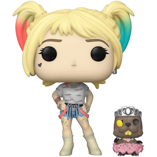 Boneco Funko Pop Birds Of Prey Harley Quinn And Beaver 308