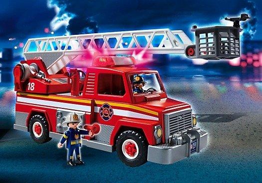Playmobil Caminhão De Bombeiro Com Escada 5682 - Sunny