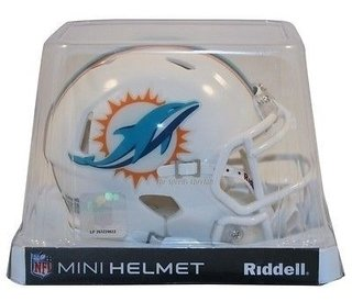 Miami Dolphins Mini Capacete 1/4 Speed Nfl Riddell