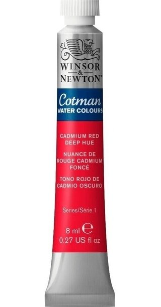 Aquarela Winsor & Newton Cotman 8ml Cadmium Red Deep 0303098