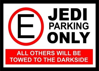 Placa Decorativa Jedi Parking  - Legião Nerd