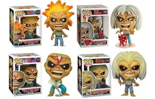 Funko Pop Kit 4 Bonecos Iron Maiden Eddie 143 144 145 E 146