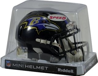Baltimore Ravens Mini Speed Capacete 1/4 Nfl Riddell