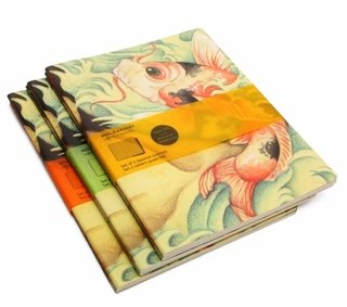 Moleskine Set 2 Cadernos Cover Art Pautado Carp Fish 6279