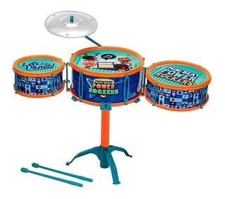 Mini Beat Power Rockers Bateria Infantil Com Baquetas Fun