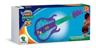 Mini Beat Power Rockers Guitarra Infantil Com Luz E Som Fun