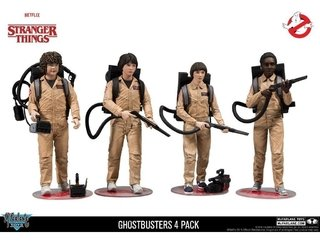 Stranger Things Deluxe Box Ghostbuster 4 Pack Mcfarlane