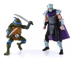 Leonardo Vs. Demolidor Cartoon 2 Pack Tmnt 7´´ Scale Neca