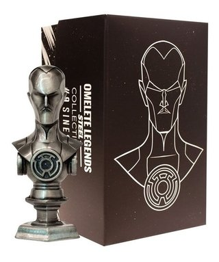 Sinestro Mini Busto De Metal Steel Legends Omelete Box